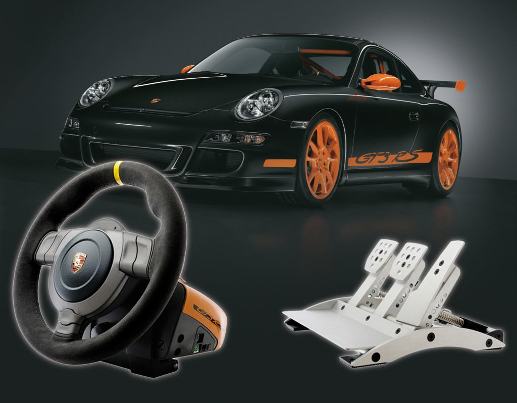 fanatec porsche 911 gt3 rs wheel pedal setup. Black Bedroom Furniture Sets. Home Design Ideas