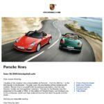 """Porsche """"Insider"""" Newsletter"""