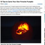 Porsche Pumpkin Carving Secrets At PorschePurist.com
