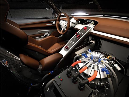 Porsche 918 RSR interior