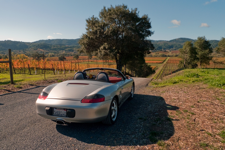 porsche boxster open road