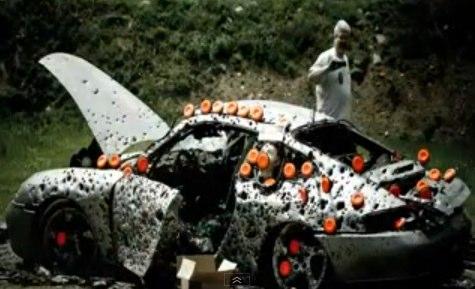 Porsche 911 Shot Up