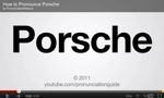 How To Pronounce Porsche