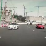 Porsche Racing in Red Square Video