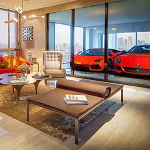 garage in living room hamilton scotts the ultimate car lover s apartment 14423