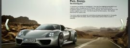 Porsche 918 Spyder Microsite