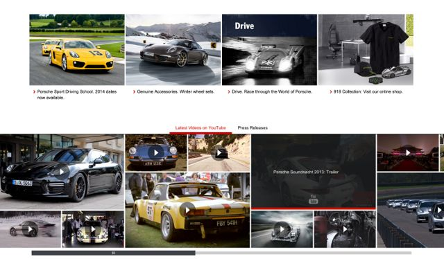Porsche New Website Design Videos