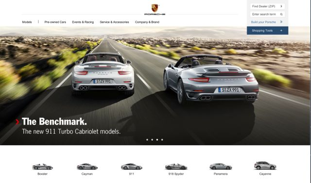 Porsche New Website Design