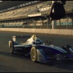Blind Backflip Over Speeding Formula E Car